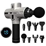 Deep Tissue Percussion Massage Gun - Quite Pure Wave Handheld Massager - 8 Heads - 5200 mAh - 9...