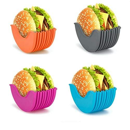 SHUIZHUYU Boîte fixe Burger, Support de stockage en Silicone Sandwich réutilisable et extensible