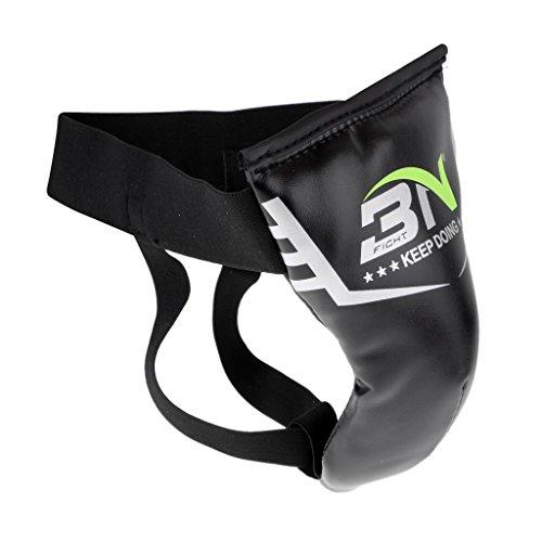 D dolity Hombre Joven Animales–Animales Line–Thai Boxing Groin Cup Cajas suspensorio homologado Karate Kickboxing Protección, L Schwarz Erwachsener