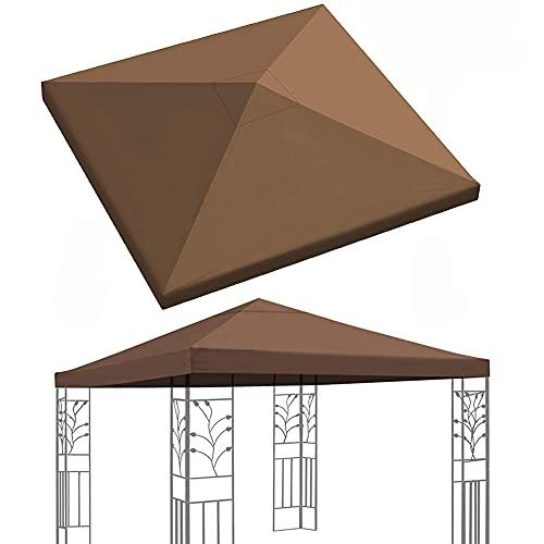 MZBZYU Cubierta De Repuesto para Pabellón De Jardín 3x3m, Impermeable, Anti-UV, Lona De Repuesto para Cenador De Jardín Y Exterior
