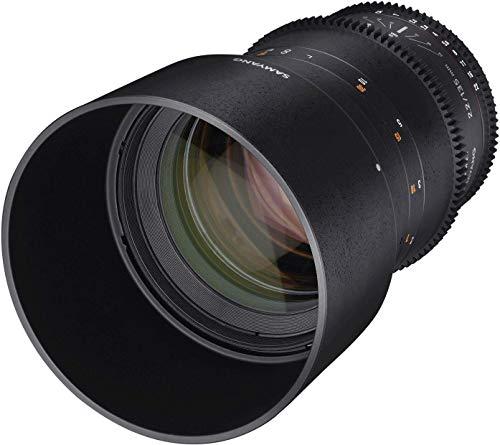 Samyang 135/2,2 Objektiv Video DSLR Canon EF manueller Fokus Videoobjektiv 0,8 Zahnkranz Gear, Spiegelobjektiv Teleobjektiv schwarz