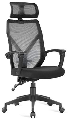 Office Chair - Dripex Desk Chair with Wheels and Arms Ergonomic Swivel Chair Adjustable Home Office Computer Chair for Women&Men