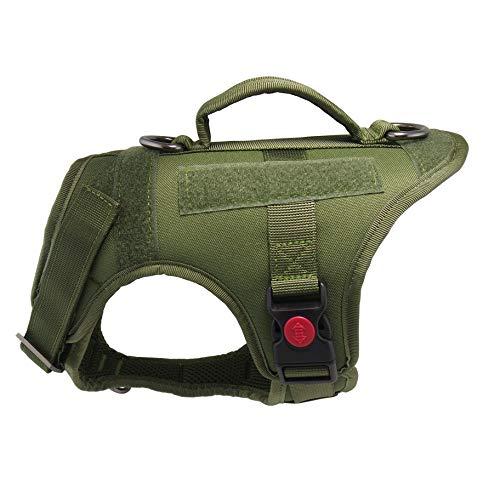 Mudinpet Taktische Hundeweste Geschirr, Militärische K9 Hundetrainingsweste, mittelgroße Hunde, Keine Pull Escape-Proof Dog Utility Weste