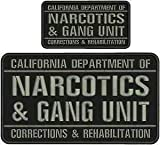 Police Patch Officer California Department of Narcotics & Gang Unit EMB Patch 6X11&3X6 Hook ON Back 2