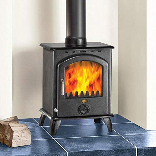 Clarke Carlton II 6. 5kW Cast Iron Wood Burning Stove - 6909899