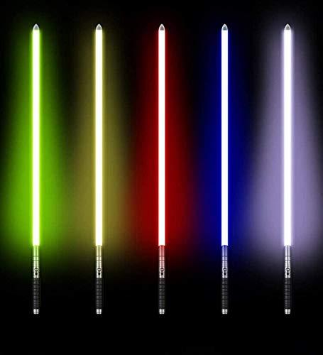 ADIS Lichtschwert Lichtschwert Klinge 11 Farbwechsel variabel Lichtschwert mit Soundeffekt Lichtschwerter Metallgriff