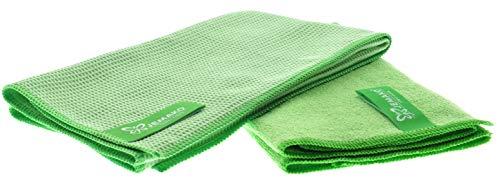 Jemako 2er Set   Trockentuch klein (40 x 45 cm   Profituch Plus klein (35 x 40 cm)   Nass- und Trocken-Set   inkl. Sinland feinmaschiges Wäschenetz (Grün)