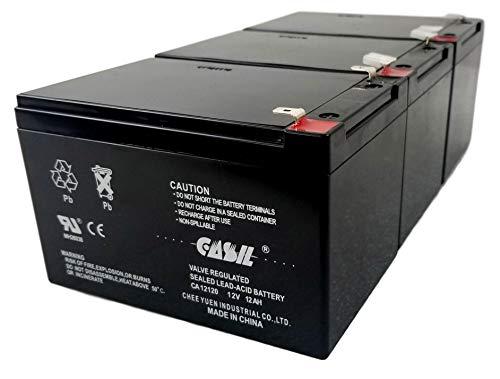 Inovel Power Casil 12V 12Ah F2 Razor Battery fits MX500 MX650, W15128190003-3 Pack