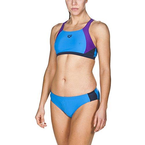 arena Damen Sport Bikini Ren (Schnelltrocknend, UV-Schutz UPF 50+, Chlor-/Salzwasserbeständig), Pix Blue-Mirtilla-Navy (809), 36