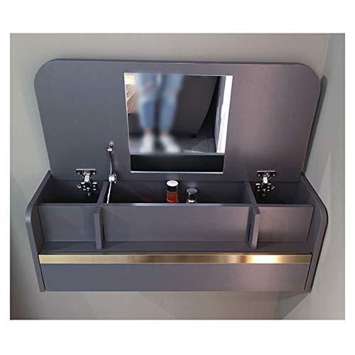 SYJH Mesa Escritorio Plegable para Espacios Pequeños Mesa de Pared de Escritorio Plegable con Compartimentos de Almacenamiento y Cajones Escritorio de Pared o Tocador(Size:636×390×296mm)