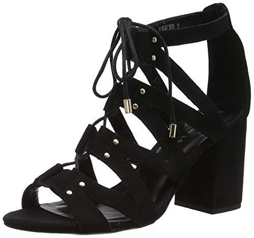 New Look Damen Wide Foot Tilz Sandalen, Schwarz (Black 1), 38 EU