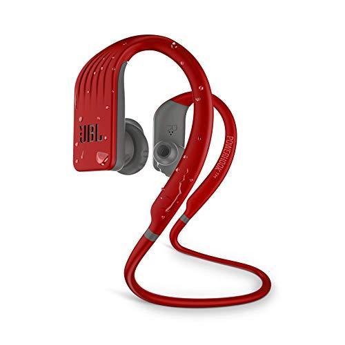 JBL Endurance Jump Waterproof Wireless Sports In-Ear Headphones (Red) (Renewed)