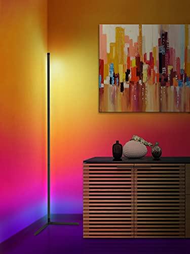 Corner Lamp, LED Corner Floor Lamp, RGB Corner Lamp with App...