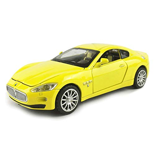Modellauto Maserati Sports Car 1.32 Simulation Druckgießende Legierung Static Toy Model Car Car-Modell (Farbe: rot) xuwuhz (Color : Yellow)