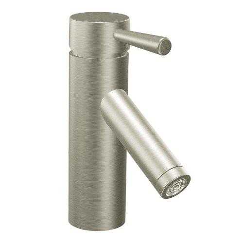 Review Moen 6100bn Level One Handle Low Arc Bathroom Faucet Brushed Nickel Flukeworm Nhu
