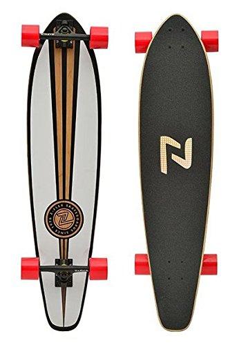 Z-Flex Longboard Round Tail, White, 9.5 Zoll, ZFLLOBROTA