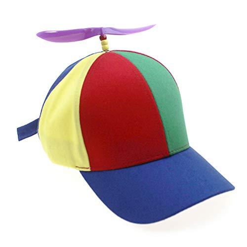 Adulto Helicóptero Hélice Gorras de béisbol Colorido Patchwork Gorra Sombrero Bambú Libélula Niños Niños Niñas Snapback Papá Sombrero