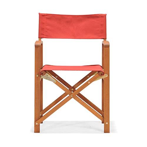 CHILLVERT 8434826105458 - Silla Plegable de Director Madera Eucalipto 51,5x54,2x84 cm