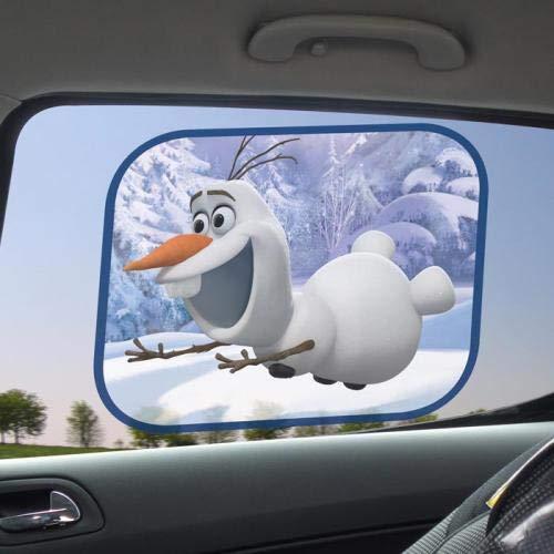 Lot 2 Pare Soleil Disney Frozen Olaf 36x44cm - Reine des Neiges Accessoire Auto - 118