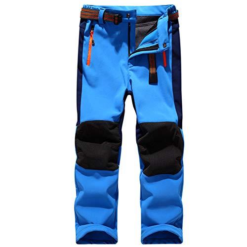 Homieco Skibroek voor jongens en meisjes, waterdicht, winddicht, winter snowboardbroek met elastische band, sneeuwbroek met afritsbare latz