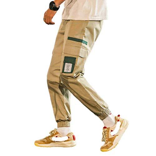 nobranded Pantalones de Trabajo al Aire Libre para Hombres Ropa de Trabajo Monos de algodón Pantalones recortados con múltiples Bolsillos