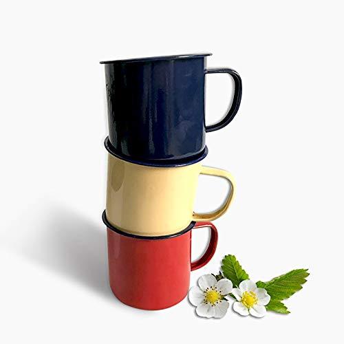 tianluo Taza de café 1 Taza De Café para Té, Taza De Esmalte Personalizada, Taza De Metal Vintage, Taza De Cerveza Creativa Nostálgica, Café con Leche, Puede Especificar El Color