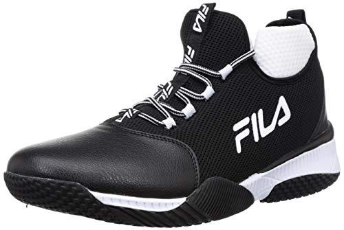 Fila Men s Wing Mid Blk Wht Basketball Shoes 7 UK