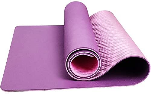 CSFLY Esterilla de yoga antideslizante, buena esterilla deportiva para yoga, pilates y gimnasia – Dimensiones 183 x 61 cm (largo x ancho)