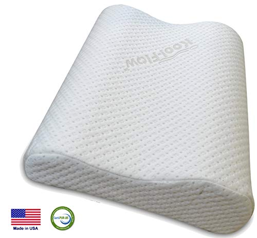 Medium Profile Memory Foam Cervical Neck Pillow for Sleeping - Chiropractor Designed Orthopedic Contour Support - Best for Neck and Shoulder Pain Relief - Made in USA CertiPUR-US (Medium)
