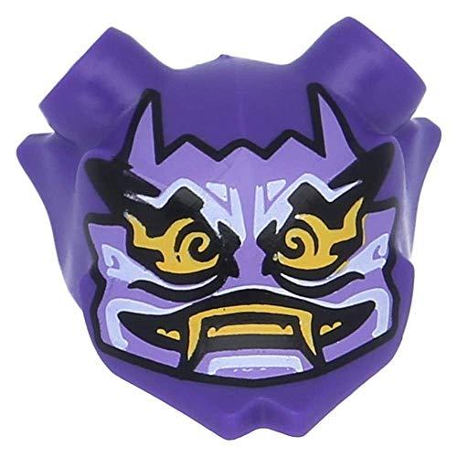 LEGO Figuren, Kopfbedeckung Maske Ninjago Oni (Mask of Hatred) Dunkellila