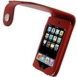 iGadgitz - Funda de Cuero Simil Piel Carcasa Case Cover para Apple iPod Touch 2ª 3ª Gen, color rojo