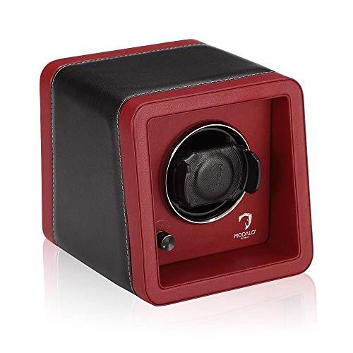 MODALO Uhrenbeweger (Watch Winder) Saturn Style MV4 für 1 Uhr - Rotes Leder 2