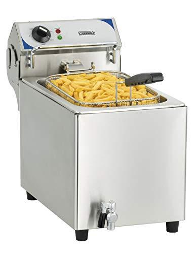 Casselin Cfev10 Elektrische friteuse met aftapkraan, 10 liter