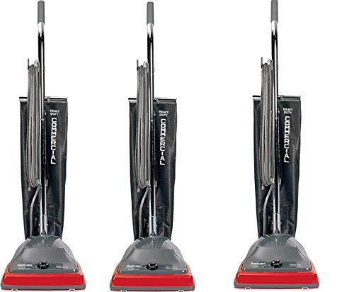 Sanitaire EUKSC679J Commercial Shake Out Bag Upright Vacuum Cleaner with 5 Amp Motor, 12' Cleaning Path (Pack of 3)