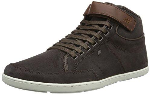 Boxfresh Herren Swich Blok High-Top Sneaker, Braun (Dunkelbraun), 44 EU