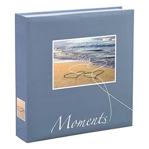 Hama Album photo vierge 'Livorno' (album photo traditionnel format 22 cm x 22 cm, pour 200 photos 10 cm x 15 cm, 100 pages, emplacement CD) Bleu/Blanc/Jaune