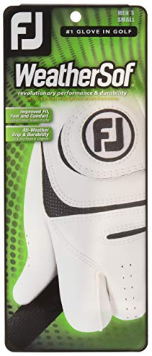 FootJoy Men's WeatherSof Golf Gloves, White, L - pack of 2