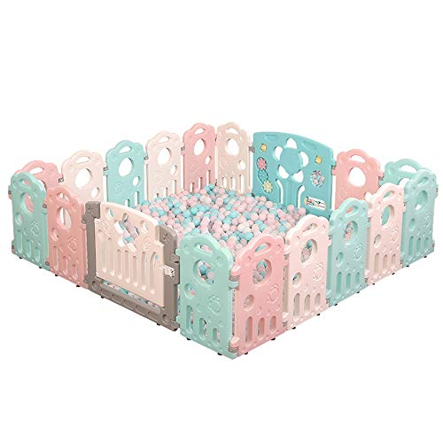 Best Review Of ZQY Indoor Children's Activity Center Fence Portable Silicone Baby Toddler Safety Fen...