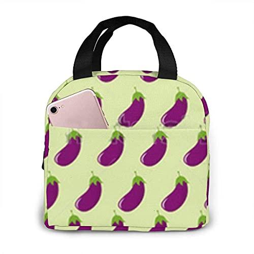 VJSDIUD Sac à lunch sac isotherme isolé à la mode motif aubergine violet boîte à lunch pour femmes pique nique canotage plage pêche travail