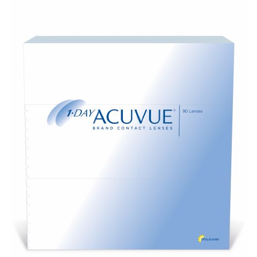 Acuvue 1-Day Tageslinsen weich, 90 Stück / BC 8.5 mm / DIA 14.2 / -1,00 Dioptrien