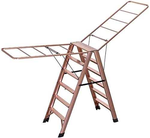 TelesMulti-Function Drying Rack Doble Uso Plegable Hogar Balcón Secado Aleación de Aluminio Espiga