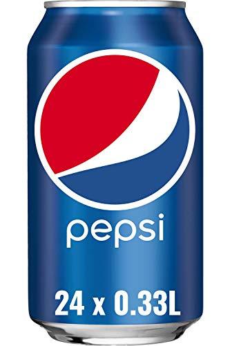 Pepsi Cola, Das Original von Pepsi, Koffeinhaltige Cola in der Dose (24 x 0,33l)