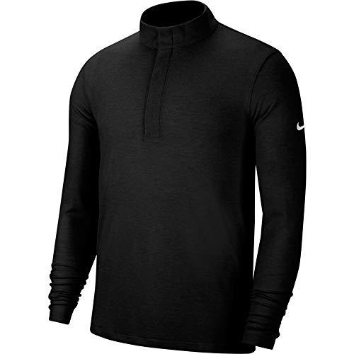 Nike Dry Fit Victory - Camiseta con media cremallera - Negro - Small