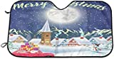 Dem Boswell Auto Windschutzscheibe Abdeckung Funny Dabbing Unicorn Mit Hut Universal Auto Frontscheibe Shades Für EIS Schnee Frost Sonne