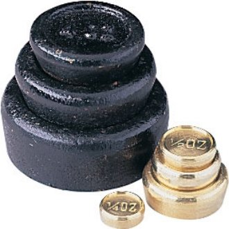 WIN-WARE Set of Imperial weights for Balancing / Calibrating / Mechanical or Digital Scales. Consists of: 1lb, 8oz, 4oz in iron, and 2oz, 1oz, 0.5 oz, 0.25oz in brass. (0.25 Ounce Mechanical Scale)