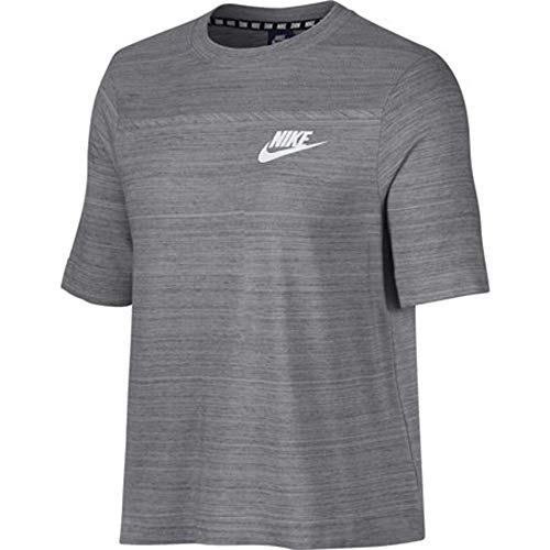 Nike Damen Advance 15 T-Shirt, grau, XS-32/34