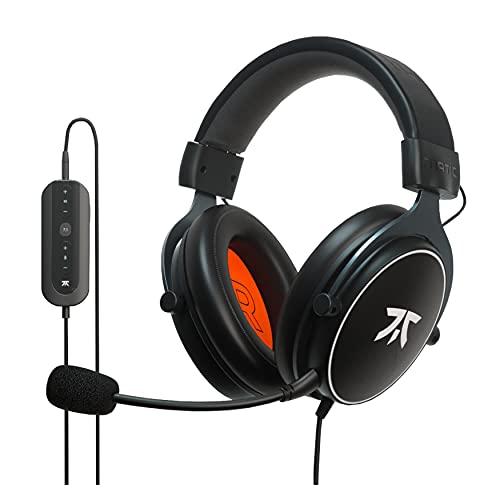 Cuffie da Gioco Fnatic REACT+ per Esport con Driver da 53mm, Suono Surround 7.1 Preciso e Scheda Audio USB Avanzata [Compatibile con Windows], Struttura Metallo, Microfono Removibile, Jack da 3.5mm