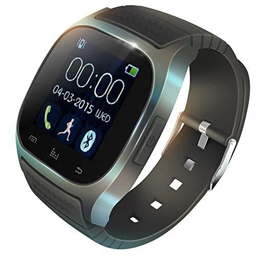 KawKaw M26 Plus Fitness Smartwatch Wasserdicht mit Pulsmesser, Kalorienzähler und Schrittzähler - Fitnesstracker, Laufuhr oder Sportuhr für Damen, Herren (kompatibel mit Android und iOS) (schwarz)