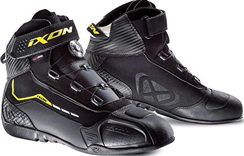 Botas de Moto IXON Soldier EVO Negro/Amarillo vif, 44