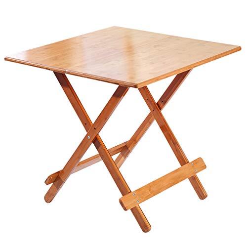 HCYTPL Deuba bijzettafel voor de tuin, massief hout, inklapbaar, eenvoudige tafel, vierkant